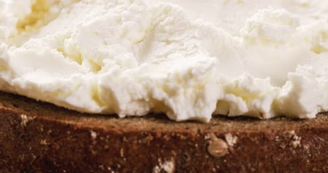 sandwiches with rye bread and cream cheese