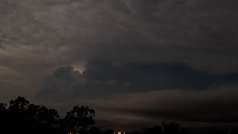 Time Lapse Lightning Electrical Storm Night Thunder over trees 4k from a 6K source, 4444 color space 1 of set of 9