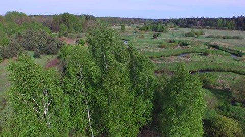 Black River Lada in the area of Bilgoraj , aerial footage