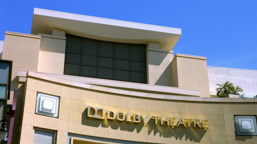 LOS ANGELES, CALIFORNIA, USA - JUNE 20, 2016: Oscar academy award nomination headquarter Dolby Theather in Los Angeles, California, 4K