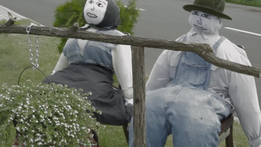 Humanoid scarecrows couple | Shutterstock HD Video #1006649512
