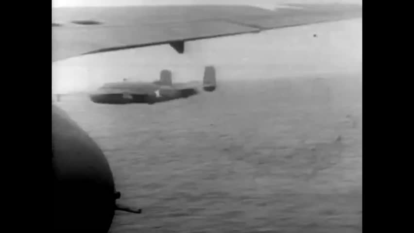 CIRCA - 1942 - USAF planes under command of Jimmy Doolittle bombed Tokyo, targeting their war and munitions factories.