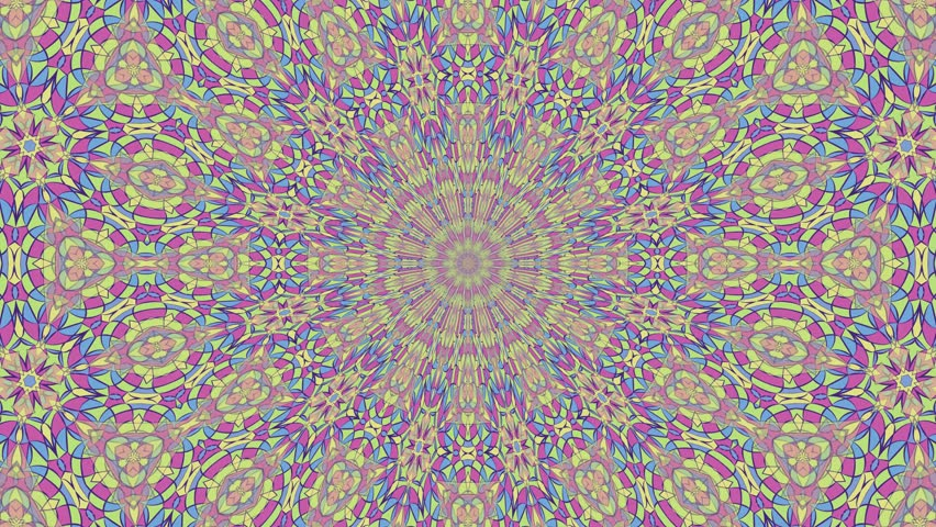 Colorful looping kaleidoscope sequence. Abstract motion graphics background. | Shutterstock HD Video #1006853722