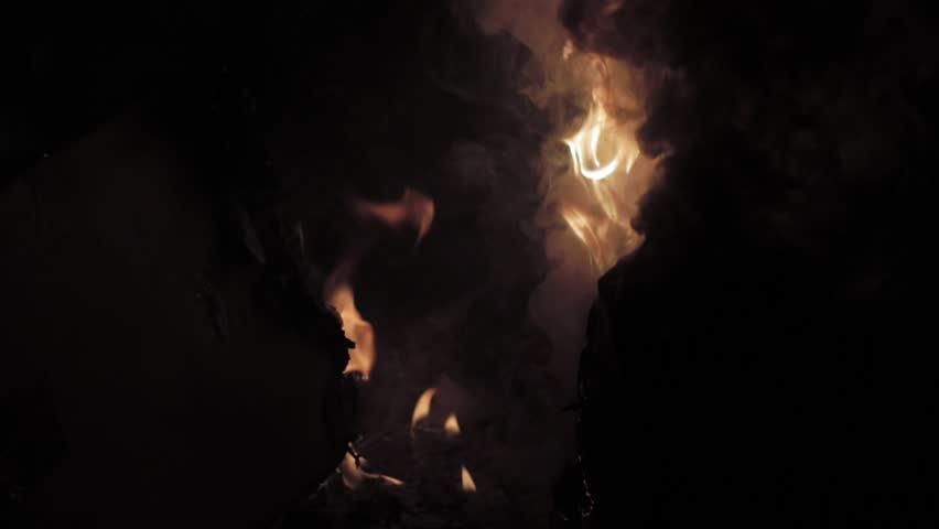 Flame burning away garbage #1006895002
