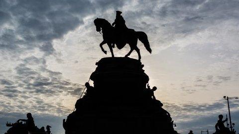 Washington Monument, Silhouette, Philadelphia, Timelapse Video