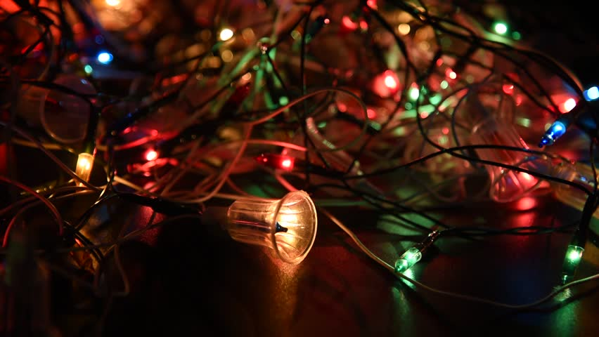 tangled christmas lights up royalty free stock video in 4k and hd shutterstock - Tangled Christmas Lights