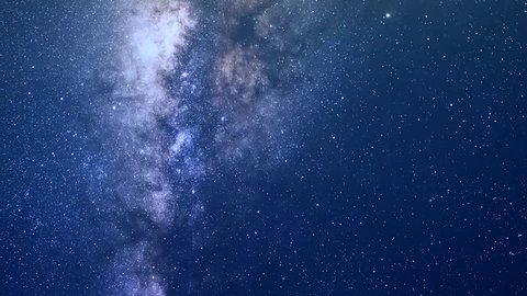 Clean blue sky in beautiful starry night time, Milky Way Galaxy Time Lapse, Desert, Astrophotography time lapse footage of Milky Way galaxy rising. Milky Way Galaxy Moving Across the Night Sky. 4K.