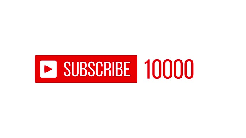 Subscribers Count Going Up On A White Background
