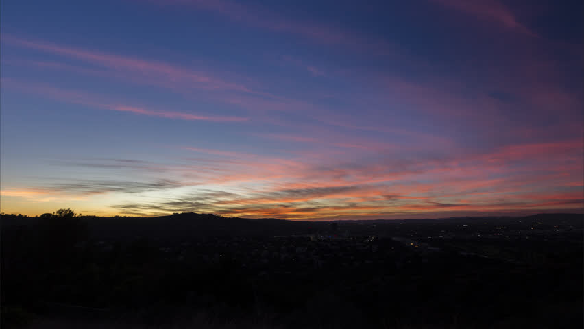 Sunset time lapse over looking san fernando valley in los angeles | Shutterstock HD Video #1007502037