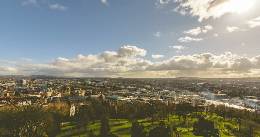 Looking Towards South Bristol England, Cloudscape Timelapse