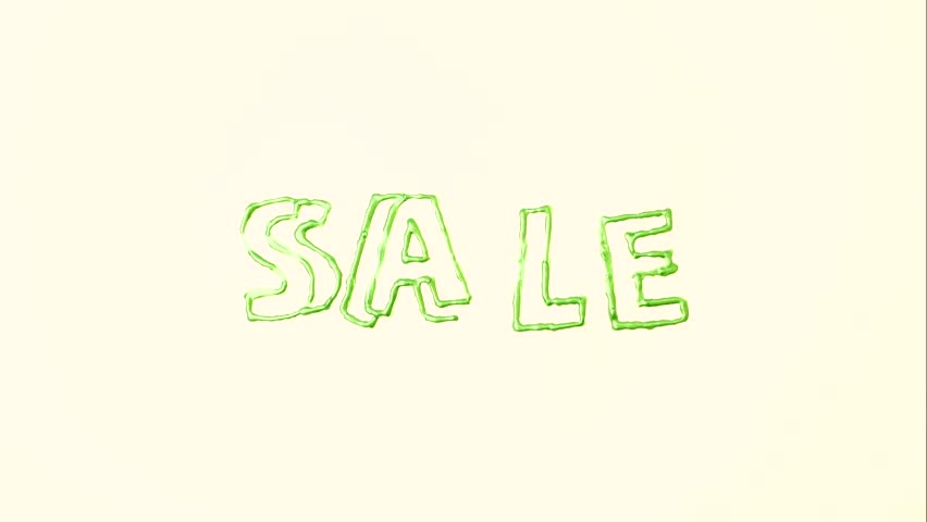 Writing sale in stop motion animation | Shutterstock HD Video #1007713162