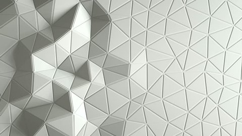 abstract triangular crystalline background animation. 3d rendering 4K
