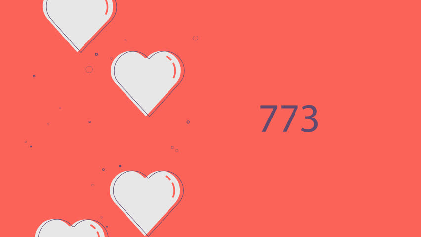 Floating heart animation racking up Facebook likes | Shutterstock HD Video #1007766322