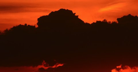 Colorful sunrise sun rise with clouds silhouette time lapse (version 22)