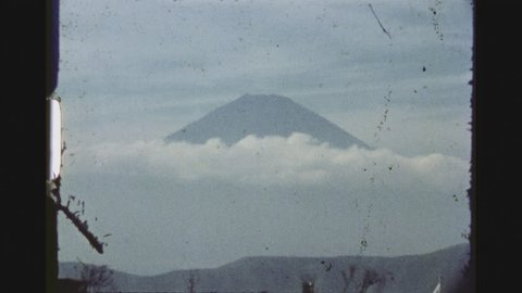 HAKONE, JAPAN, APRIL 1978. Two Shot Sequence Impressions Of The Fuji Mountain As Seen From The Hakone Izu National Park.