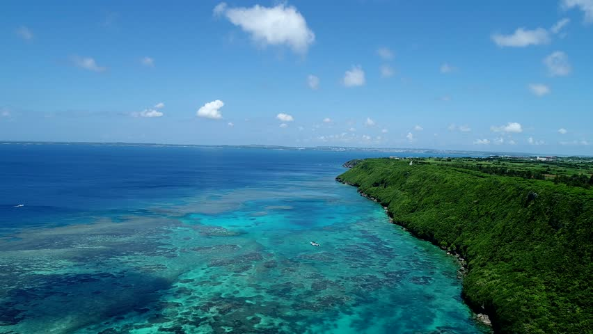 Beautiful seascape at Okinawa in Japan | Shutterstock HD Video #1007877952