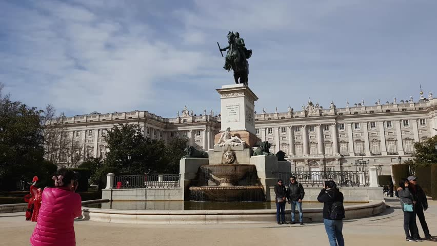 Plaza De Oriente Square At Stock Footage Video 100 Royalty Free 1007900692 Shutterstock