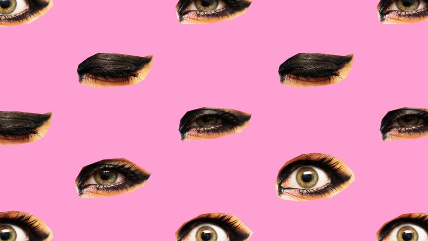 Minimal Motion art. Eyes background