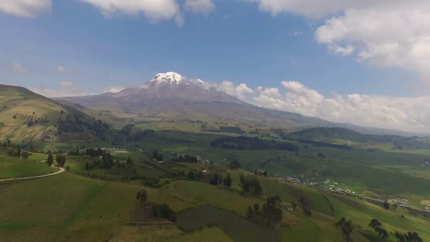 Chimborazo is a currently inactive stratovolcano in the Cordillera Occidental range of the Andes. Its last known eruption is believed to have occurred around 550 C.E.
