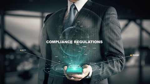 Businessman with Compliance regulations