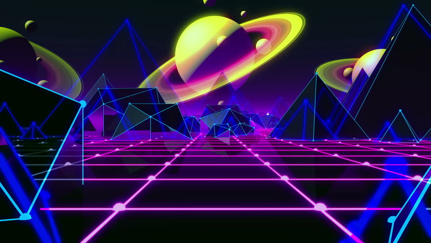 80s retro futurism background stock footage video 28467886 - Vintage space wallpaper ...