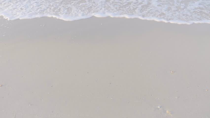 Close up sea wave on the sand  | Shutterstock HD Video #1008063052