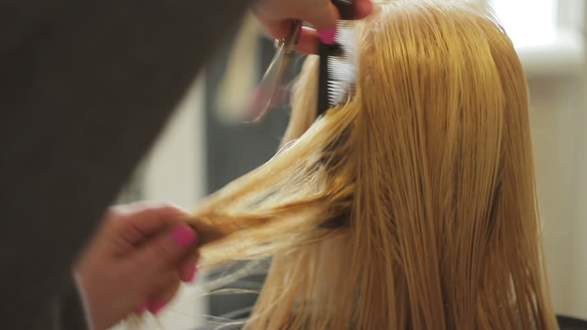 Trimming hairy blond bush using a electric shaver share