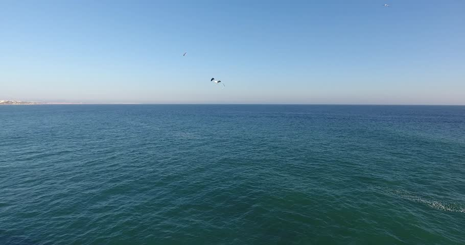 Aerial view - Drone footage 4K of S. Rafael Beach - Algarve - Portugal
