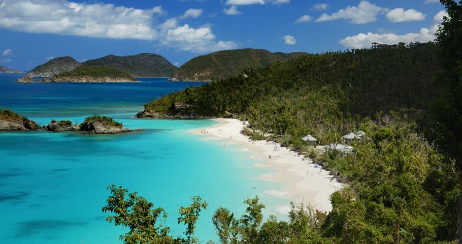 Post hurricane Irma, Trunk Bay overlook, st john, united states virgin islands