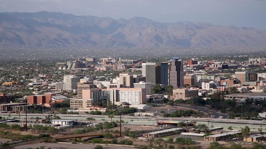 Tucson Arizona, skyline timelapse.