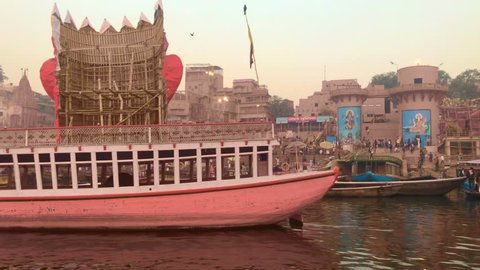 Boat Trip In Ganges River , Varanasi , India