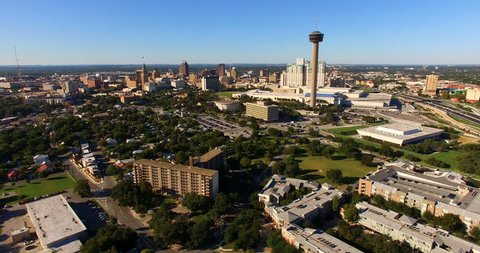 San Antonio Skyline Aerial Panoramic South Central Texas