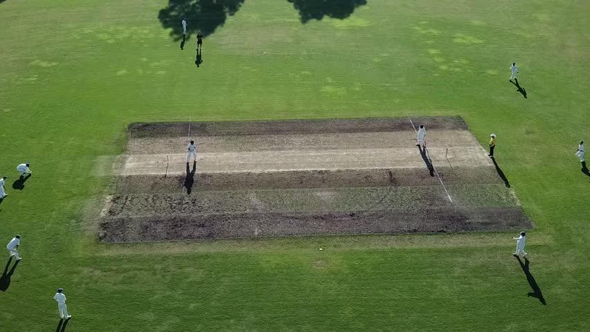 Cricket match aerial view  | Shutterstock HD Video #1008417892