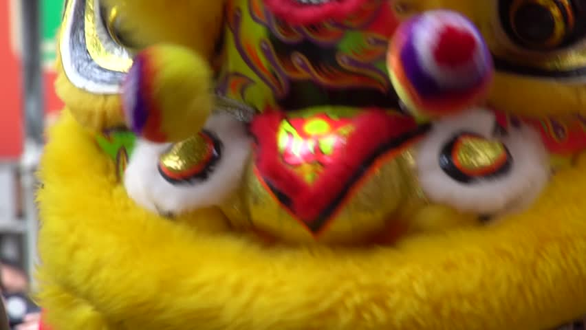 Chinese New Year Lion Dance Ceremony