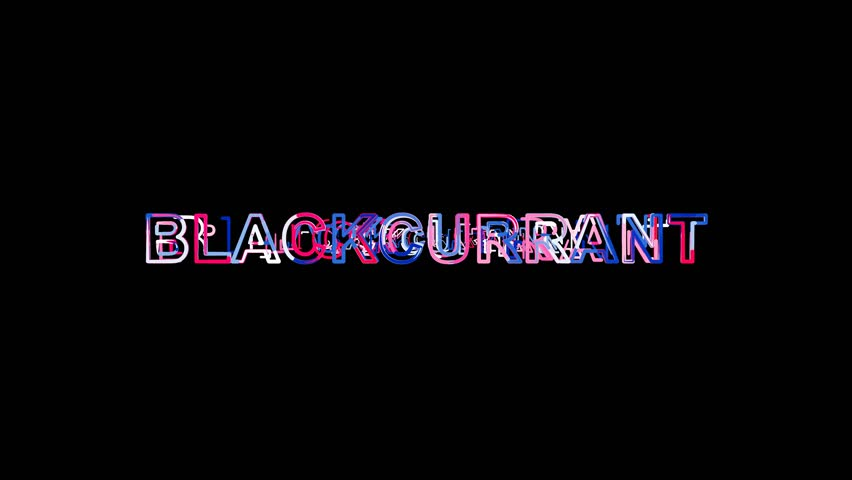 Letters are collected in fruit BLACKCURRANT, then scattered into strips. Alpha channel Premultiplied - Matted with color black