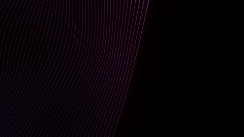 Abstract cg polygonal neon lines surface. Geometric lowpoly violet stripes motion background.