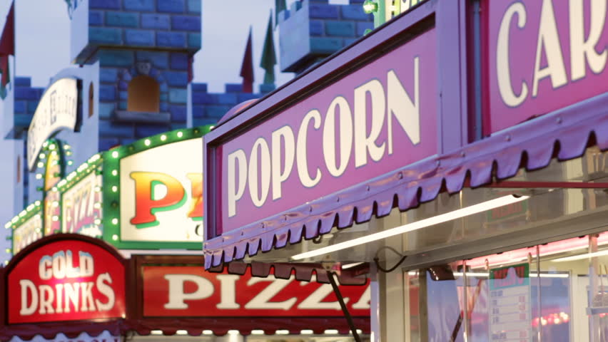 Carnival food signs at vendors | Shutterstock HD Video #1008527332
