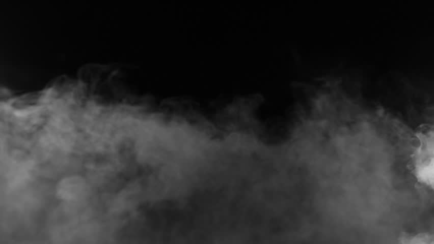 Slow motion of realistic smoke effect on black background | Shutterstock HD Video #1008551272