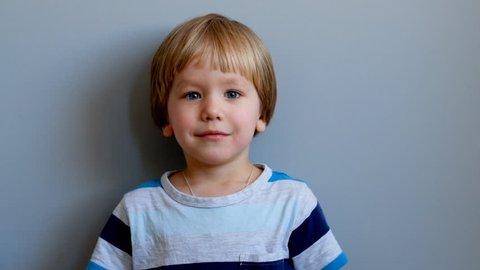 Little boy having a cough