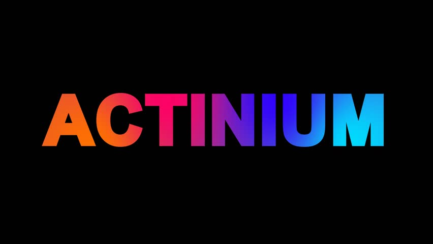 Element of Periodic Table Actinium Stock Footage Video (100% Royalty-free)  1008691492 | Shutterstock