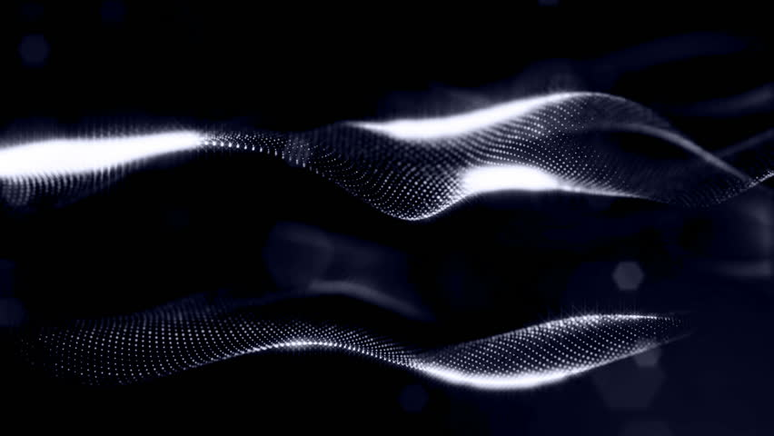 3d rendering background with particles and depth of field. Loop animation, seamless footage. Dark digital abstract background with beautiful glowing particles. Black color V2 | Shutterstock HD Video #1008695842