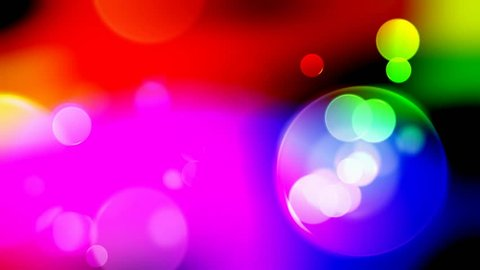 Colorful Circles Video Background Loop . Glassy circular shapes perform a colorful dance. HD background