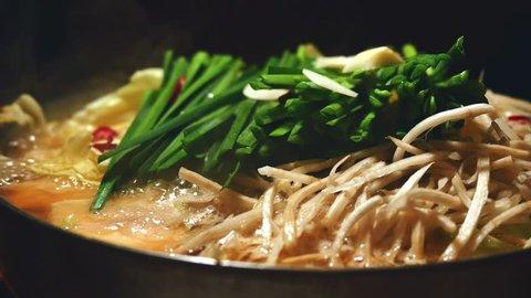 Japanese hotpot, motsinabe