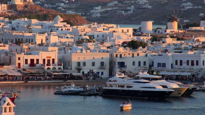 Mykonos Island Greece Aegean Sea | Shutterstock HD Video #1008773312