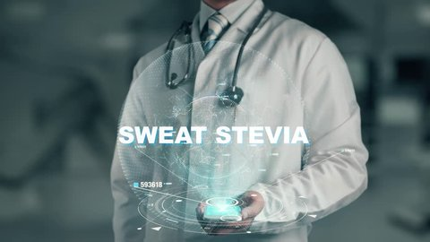 Doctor holding in hand Sweat Stevia