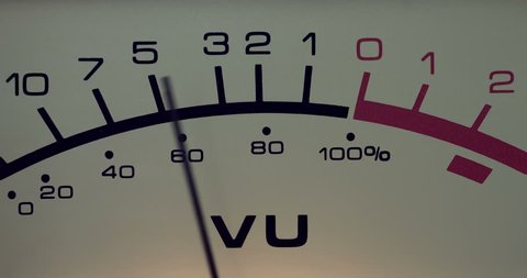 Antique analog volume meter (VU meter) - close-up