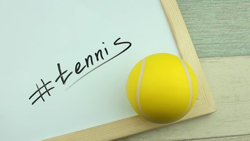 Hashtag tennis and ball | Shutterstock HD Video #1008900272