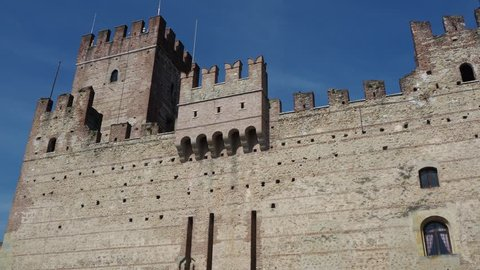 Marostica, Vicenza, Italy. The castle in the lower part of the town