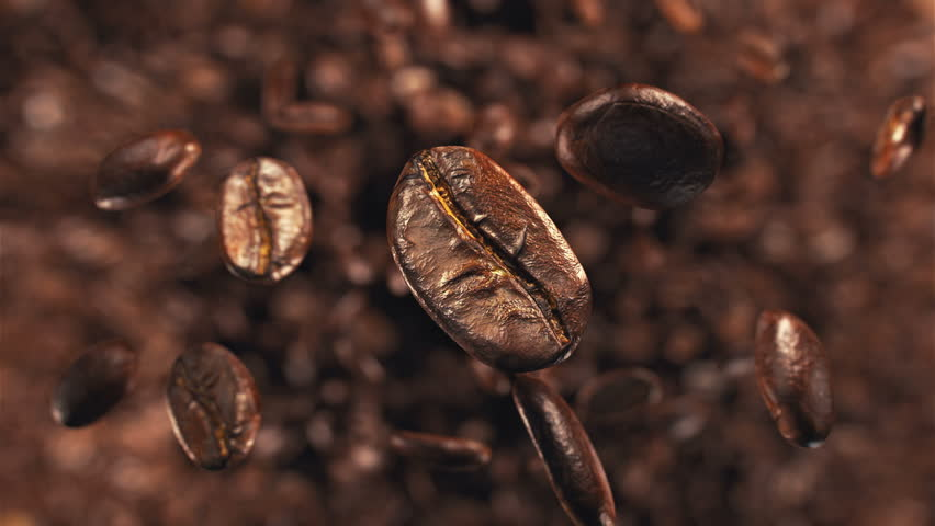 Coffee beans explosion in super slow motion 4K | Shutterstock HD Video #1008928592