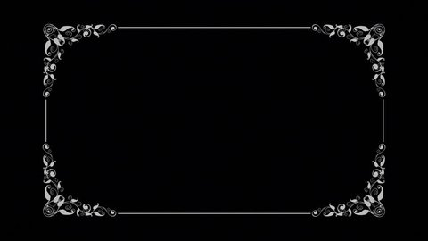 Old Silent Film Style Text Frame. Film projector flickering background.